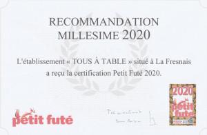 recommandation Petit Futé 2020